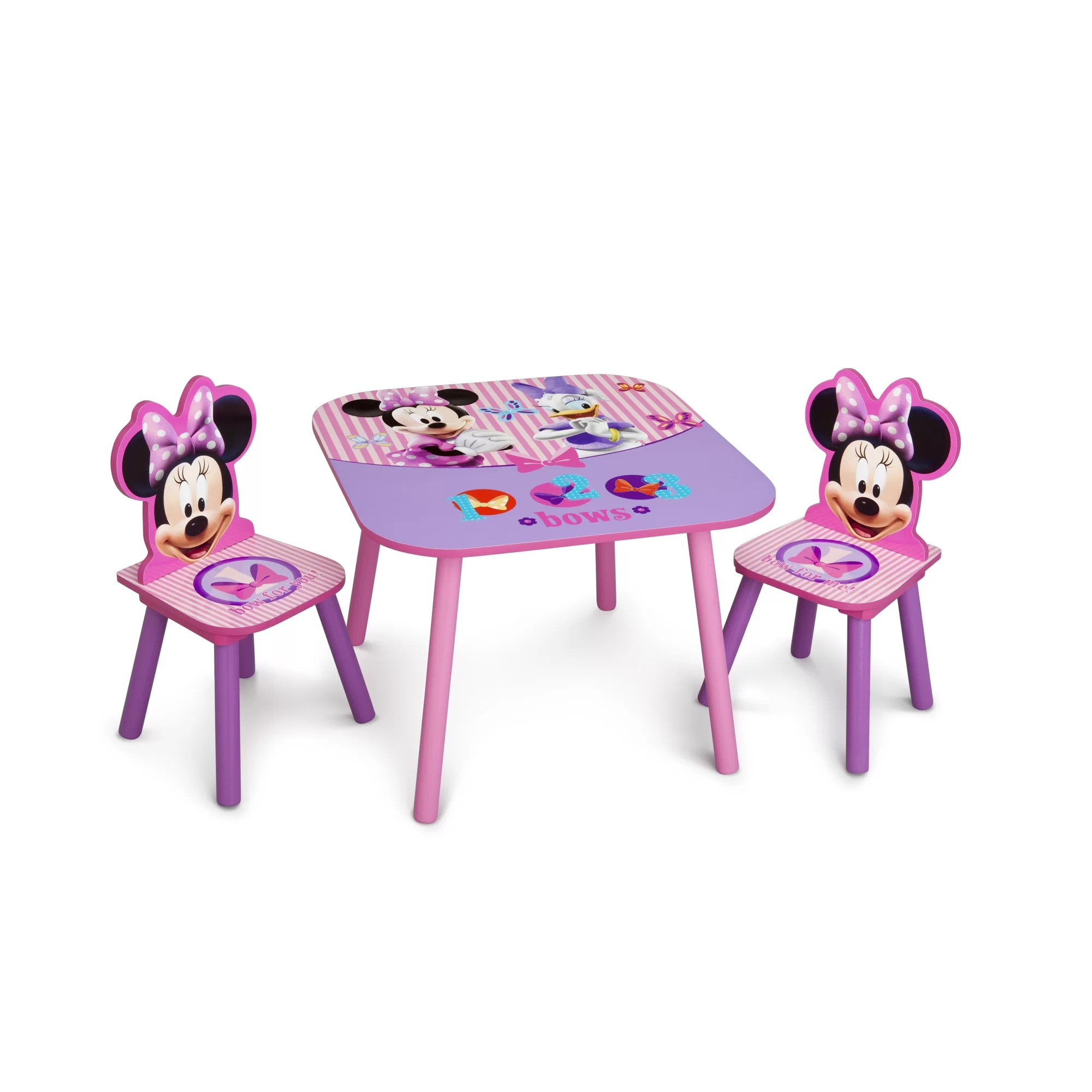 minnie table and chairs gym equipment chair delta children mouse kids 3 piece