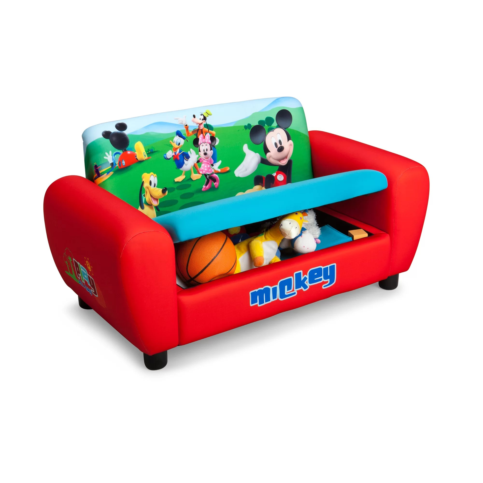 mickey mouse sofa mart green bay delta children disney kids wayfair