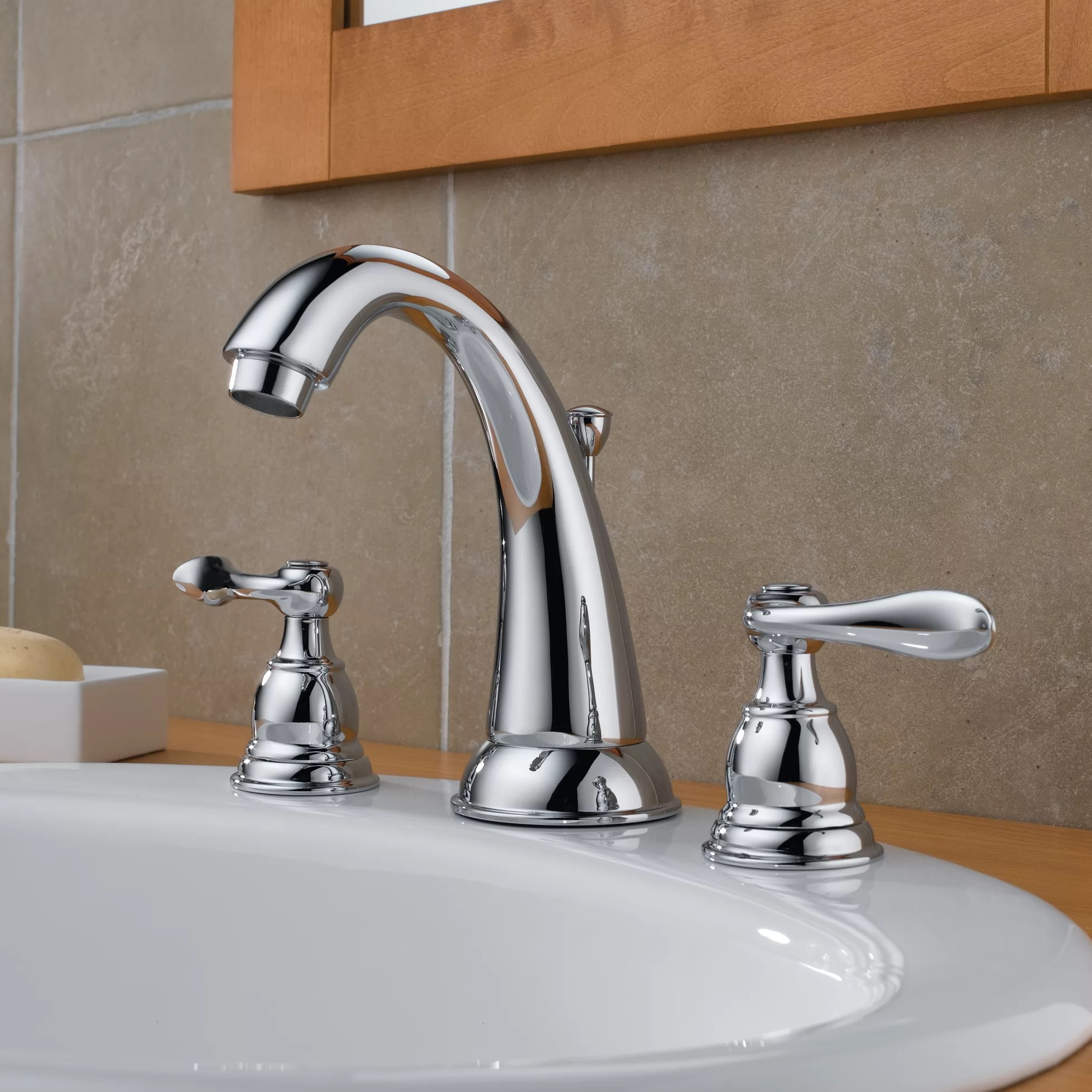 widespread kitchen faucet wolf ranges delta windemere bathroom with double