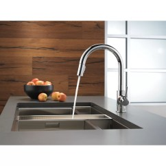 Delta Trinsic Kitchen Faucet Cabinets Designs 15 Quot Single Handle Pull Down