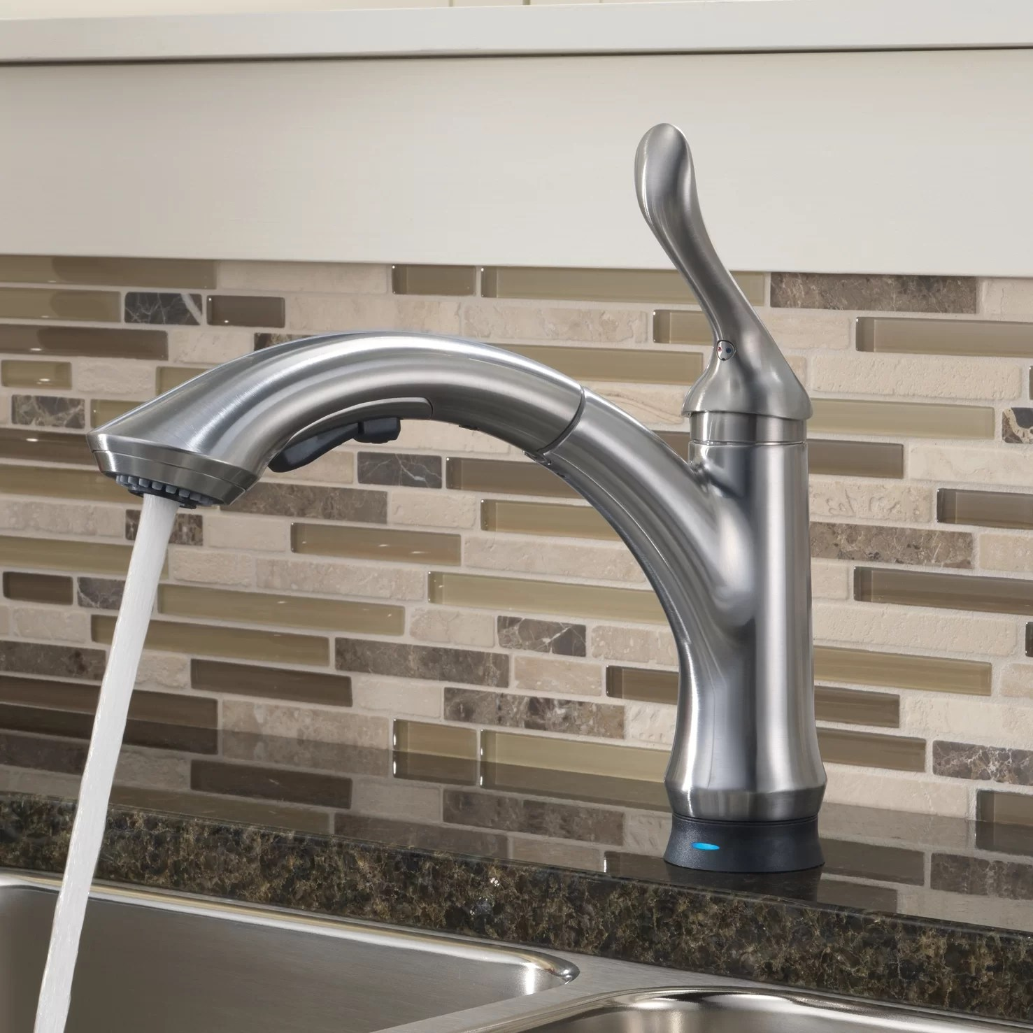 delta touchless kitchen faucet compact linden single handle pull out standard