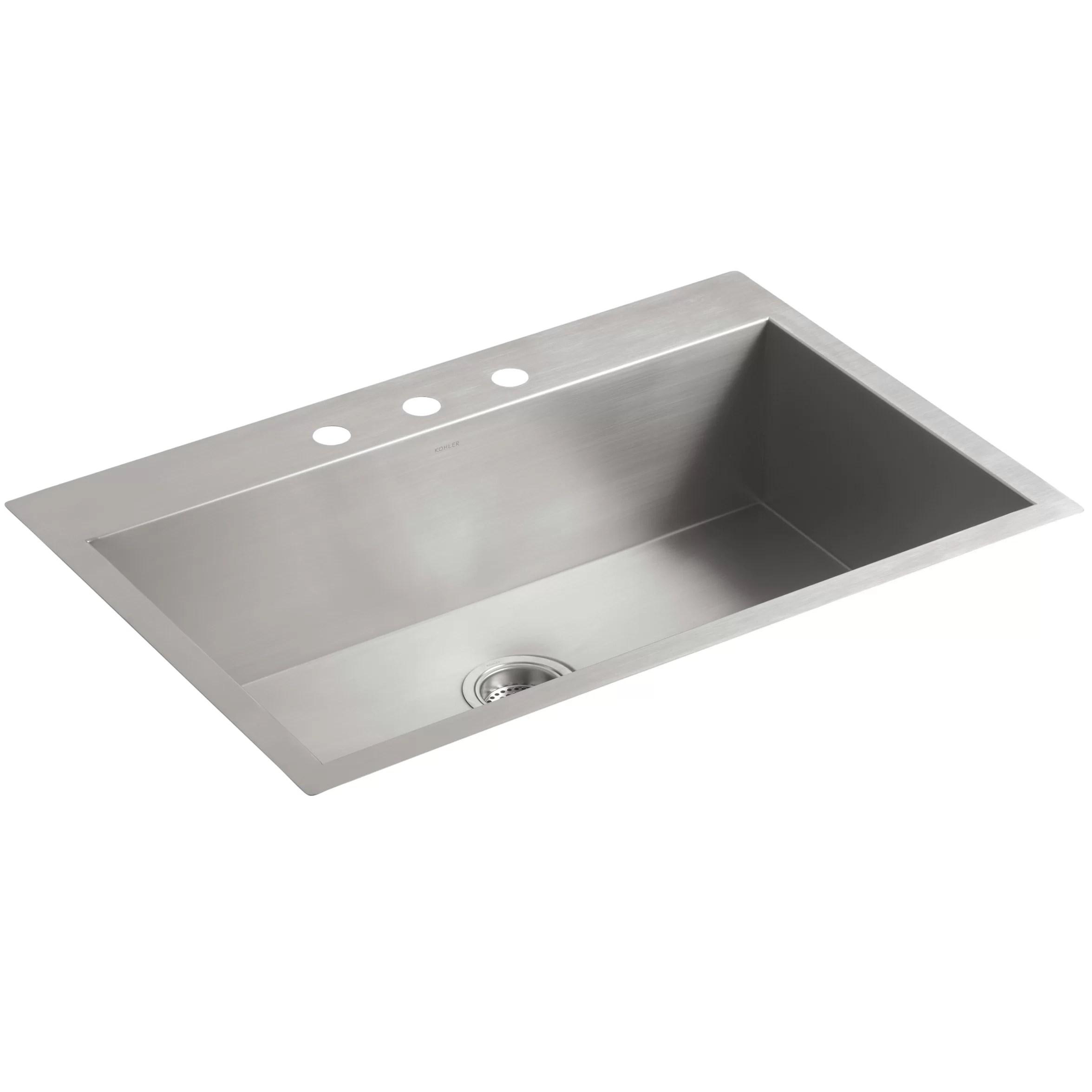 single bowl kitchen sinks american standard sink kohler vault 33 quot x 22 9 5 16 top mount under