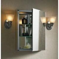 "Kohler 15"" W x 26"" H Aluminum Single-Door Medicine Cabinet ..."