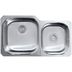 Extra Large Kitchen Sinks Double Bowl Cabinet Refinishing Cost Kohler Undertone Preserve 35 1 8 Quot X 20 9 5