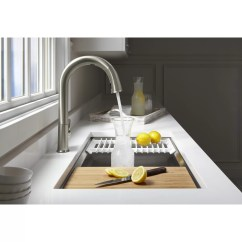 Kohler Kitchen Sink Accessories Furniture Stores Prolific 33 Quot X 17 3 4 11 Undermount Single Bowl