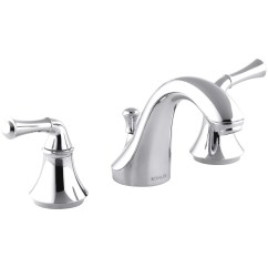 Widespread Kitchen Faucet Mobile Trailer Kohler Forté Bathroom Sink With