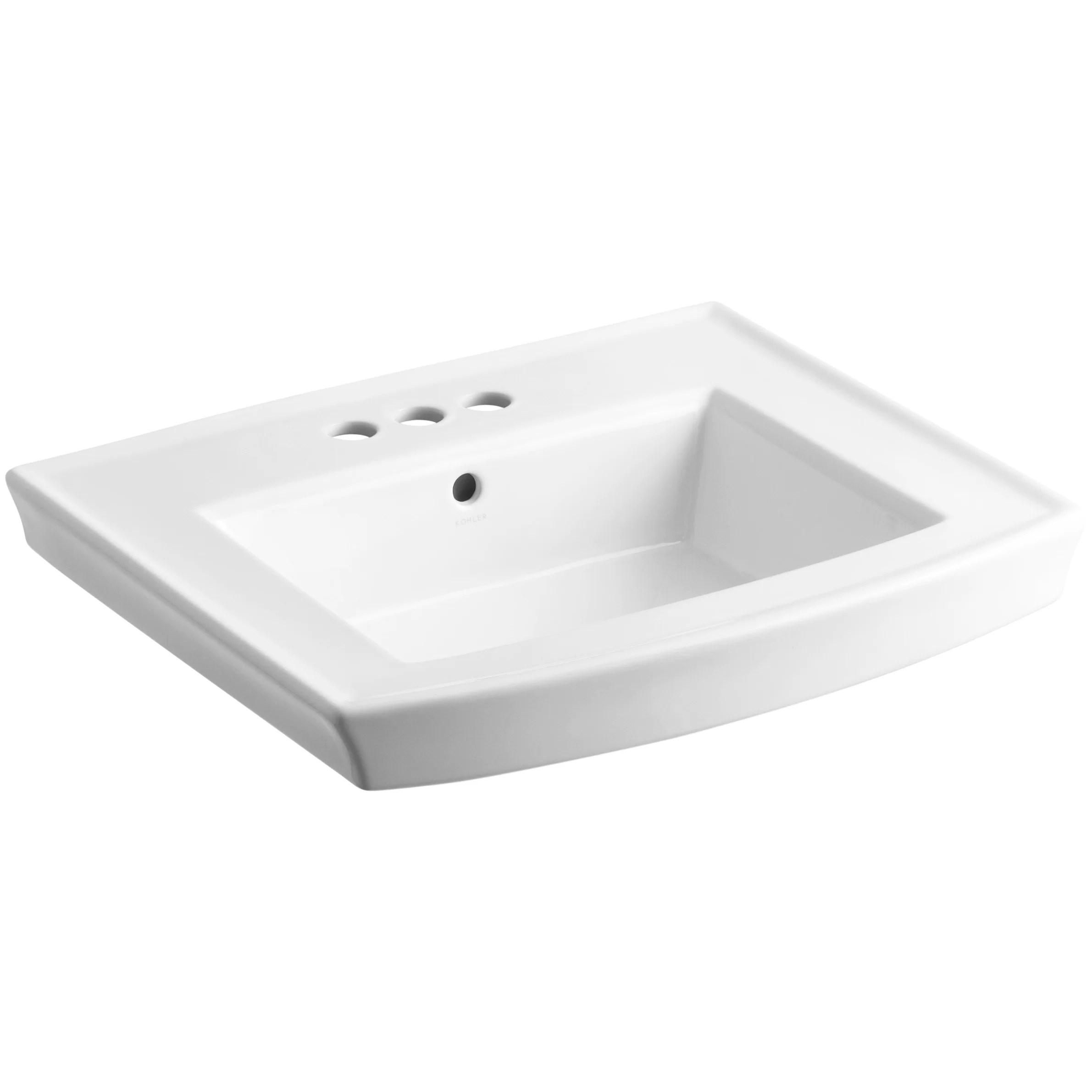 Kohler Archer Pedestal Bathroom Sink & Reviews