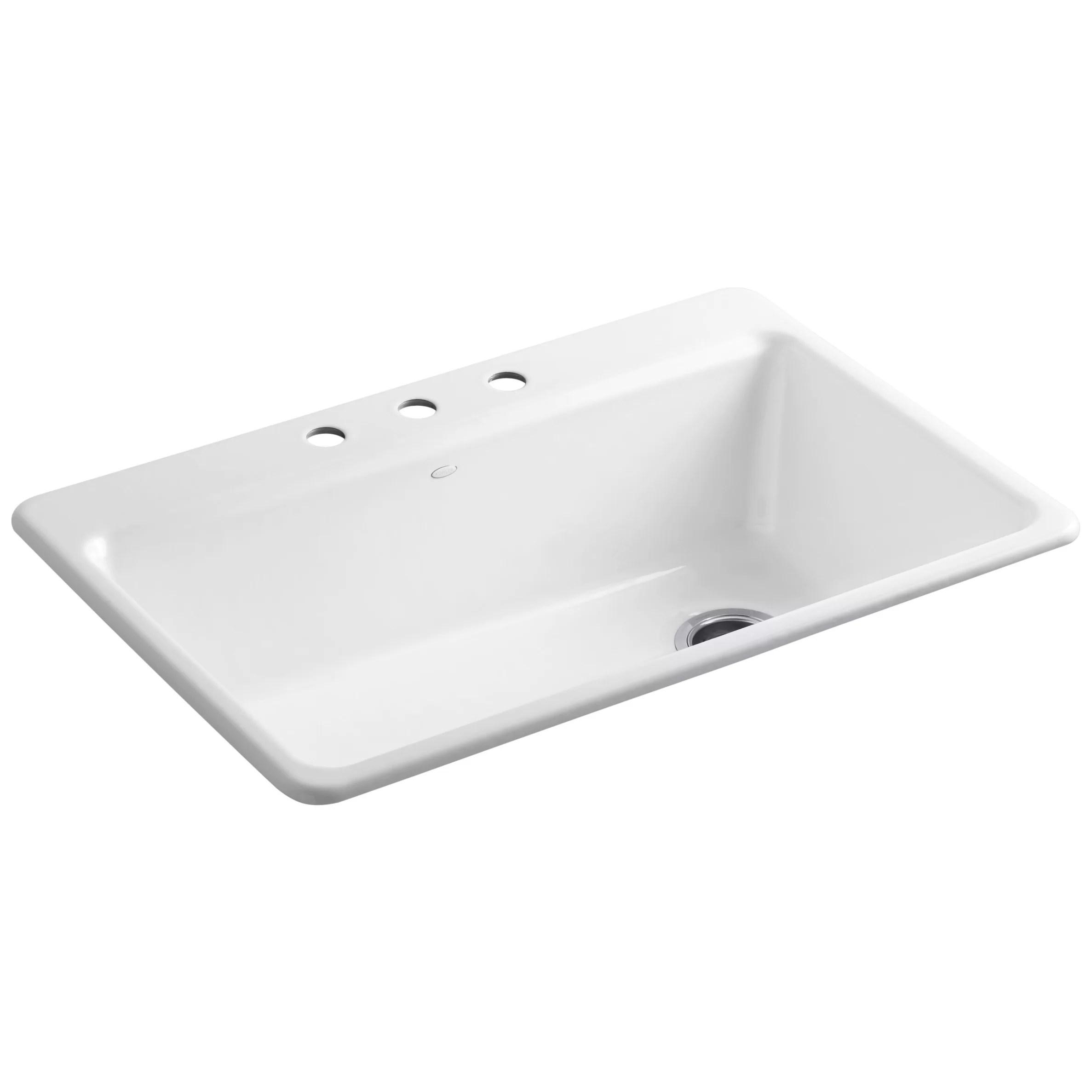 kohler kitchen sink accessories and bath design center riverby 33 quot x 22 9 5 8 top mount single bowl