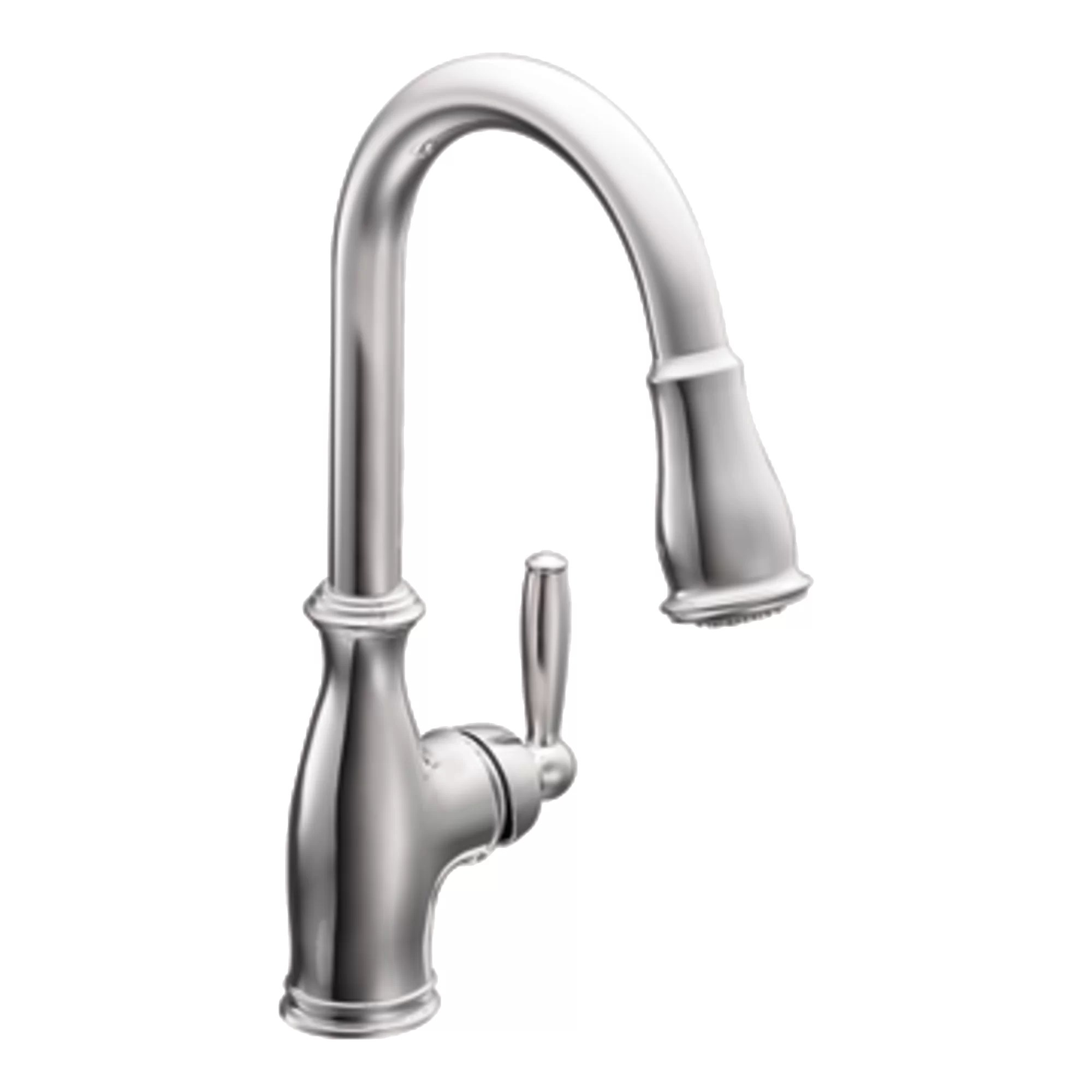 moen hands free kitchen faucet best cabinets for the money brantford single handle and reviews