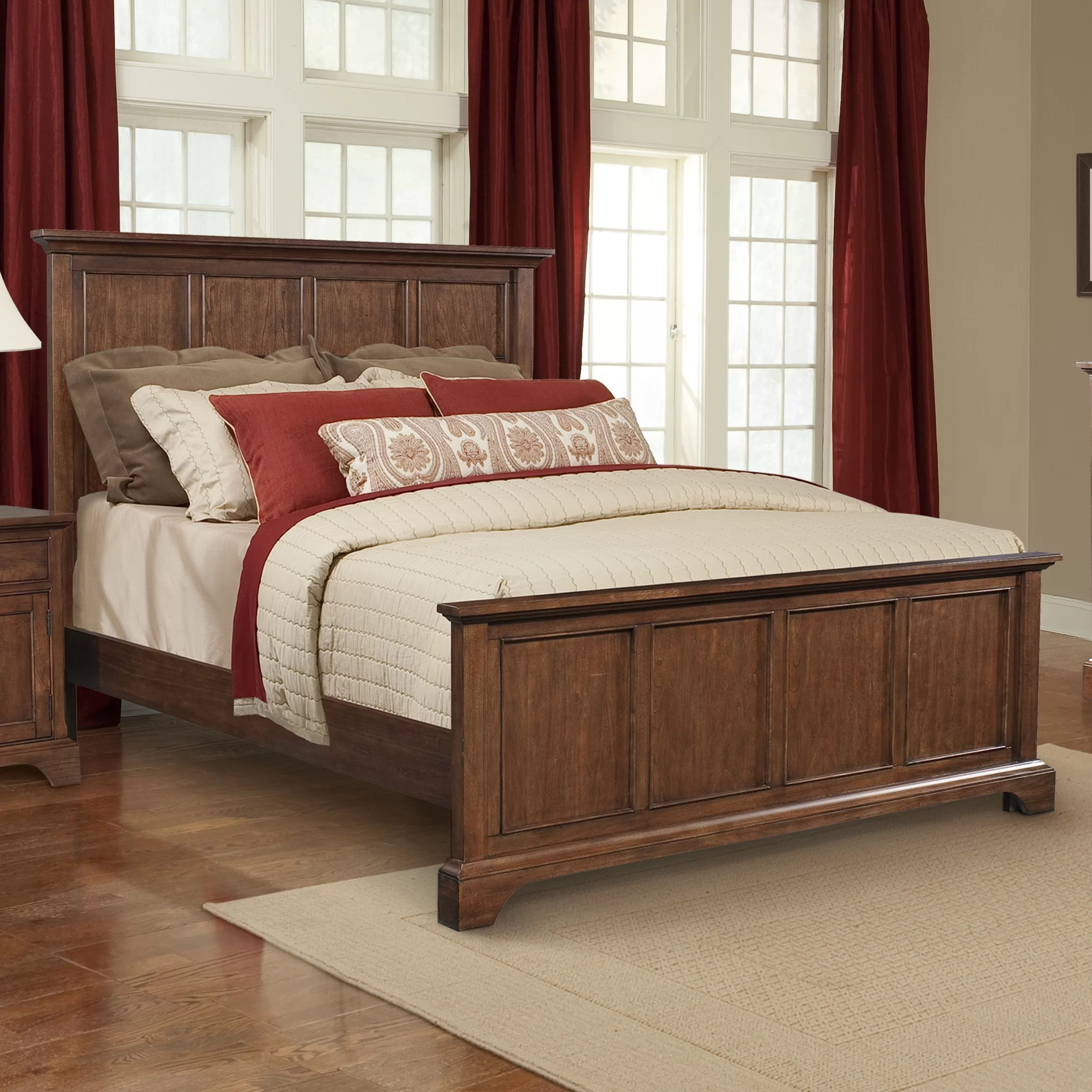 bedroom chair wayfair office swivel covers cresent furniture retreat cherry queen panel customizable