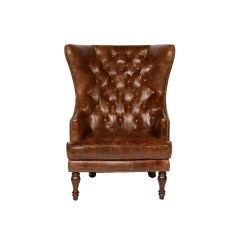 Tufted Wingback Dining Chair Pier One Outdoor Cushions Lazzaro Leather Sedgefield Wing Back