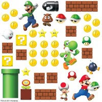 Room Mates Nintendo 45 Piece Super Mario Wall Decal