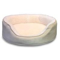 FurHaven Orthopedic Sherpa/Suede Oval Pet Bed & Reviews ...