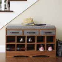 Household Essentials Entryway Shoe Storage Bench & Reviews ...
