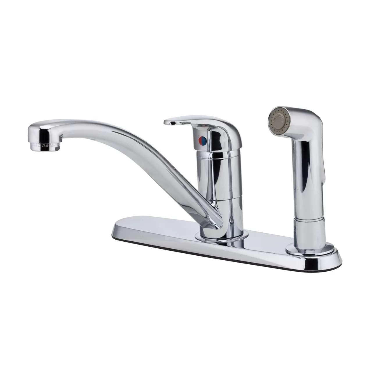 kitchen faucet with side spray funny gadgets pfister pfirst series single handle deck mounted