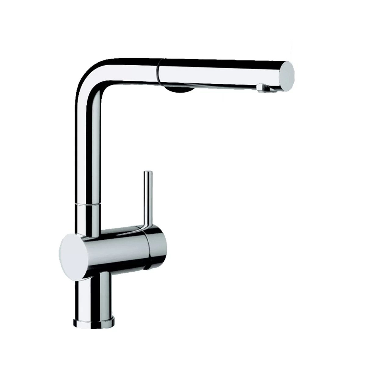 pull out spray kitchen faucet dark wood table blanco linus single handle deck mounted