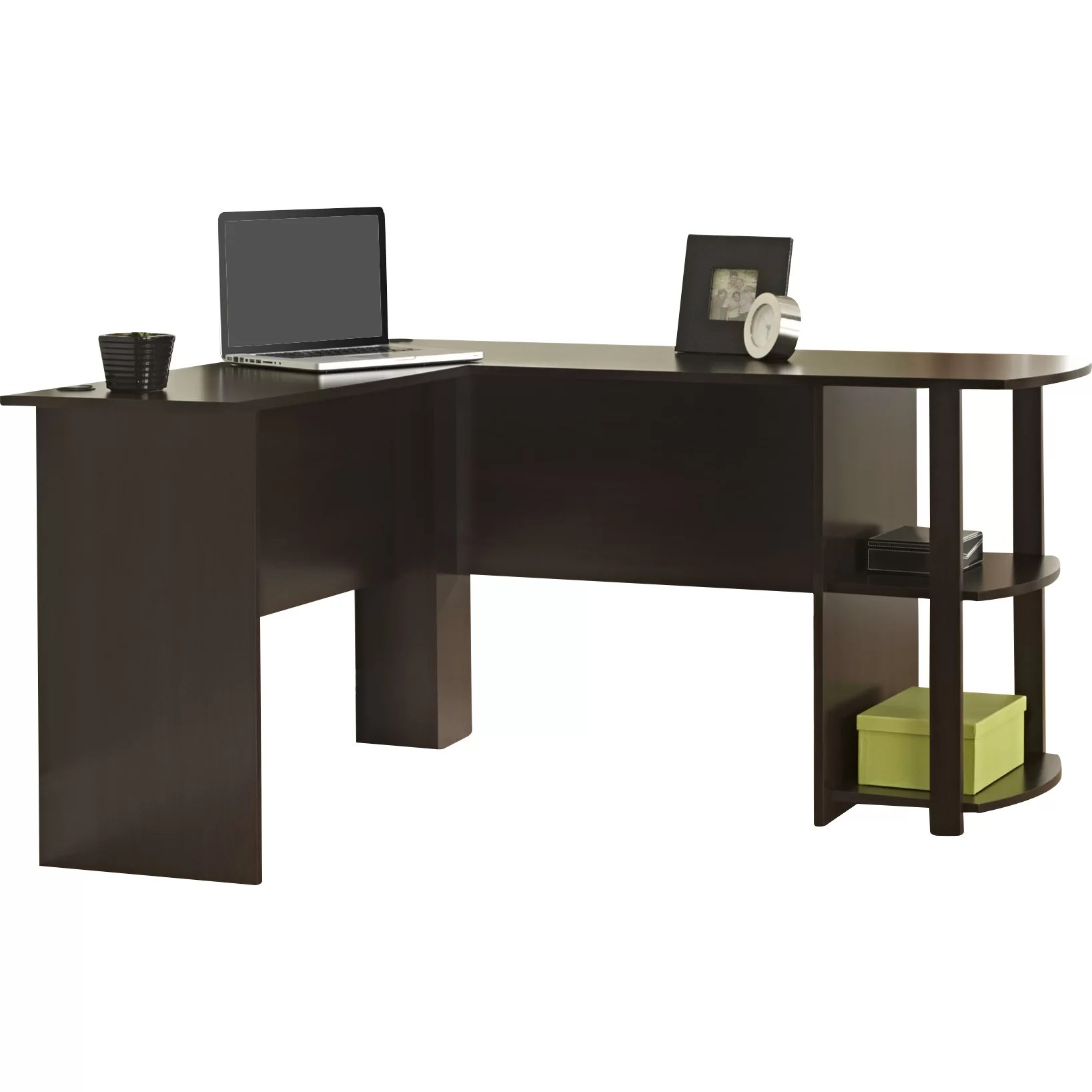 Ameriwood Computer Desk with 2 Shelves  Reviews  Wayfair