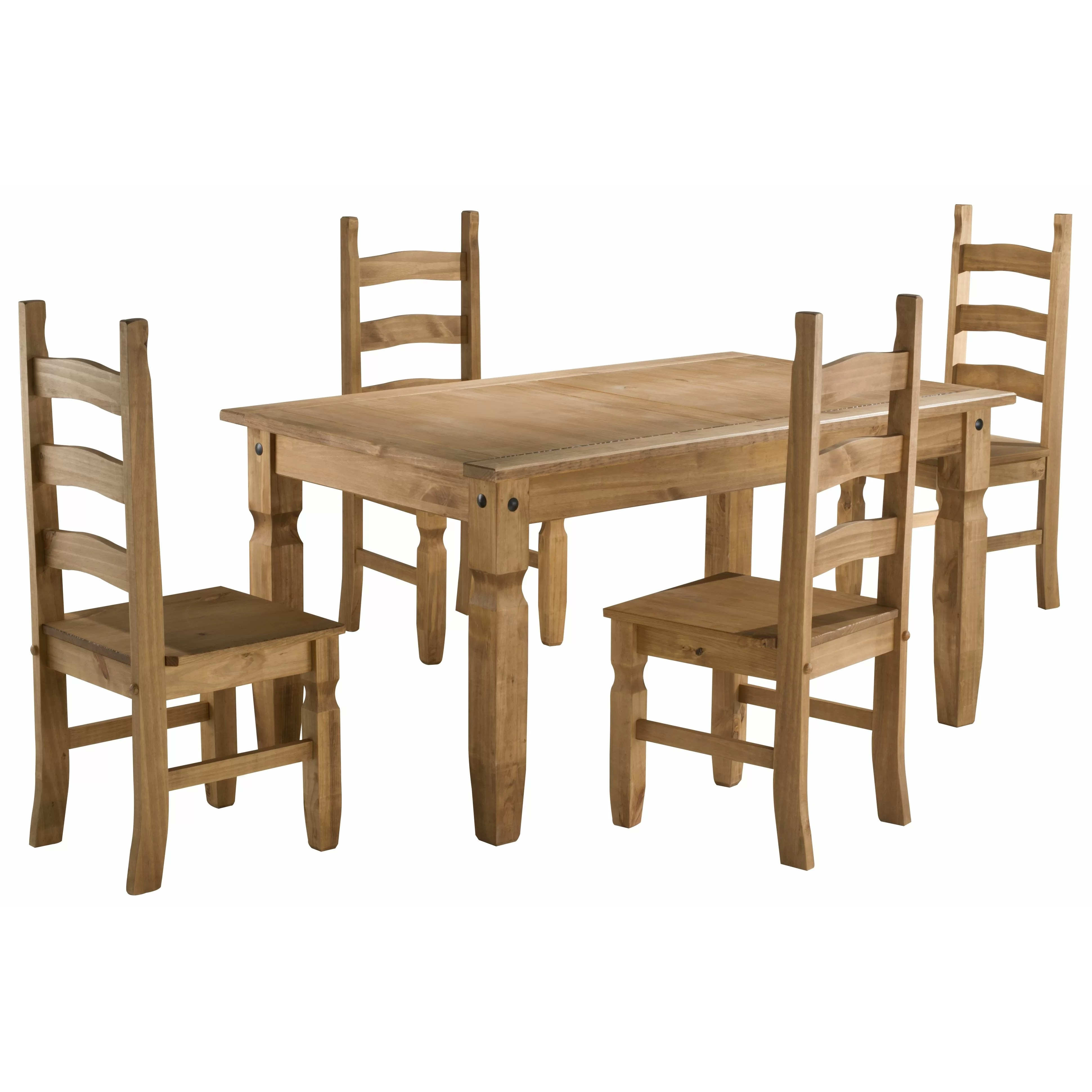 cheap pine dining chairs white leather for sale birlea corona table and 4 wayfair uk