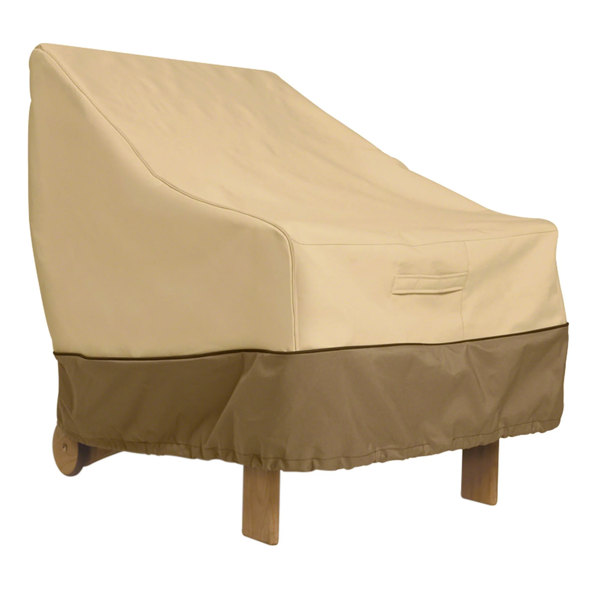 club chair covers folds into bed classic accessories veranda patio lounge cover