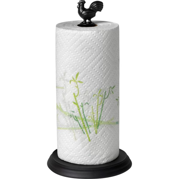 Spectrum Diversified Rooster Paper Towel Holder In Black
