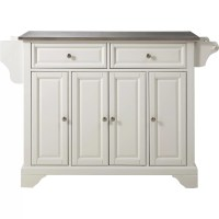 Crosley LaFayette Kitchen Island with Stainless Steel Top ...