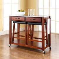 Crosley Kitchen Island Set with Stainless Steel Top ...