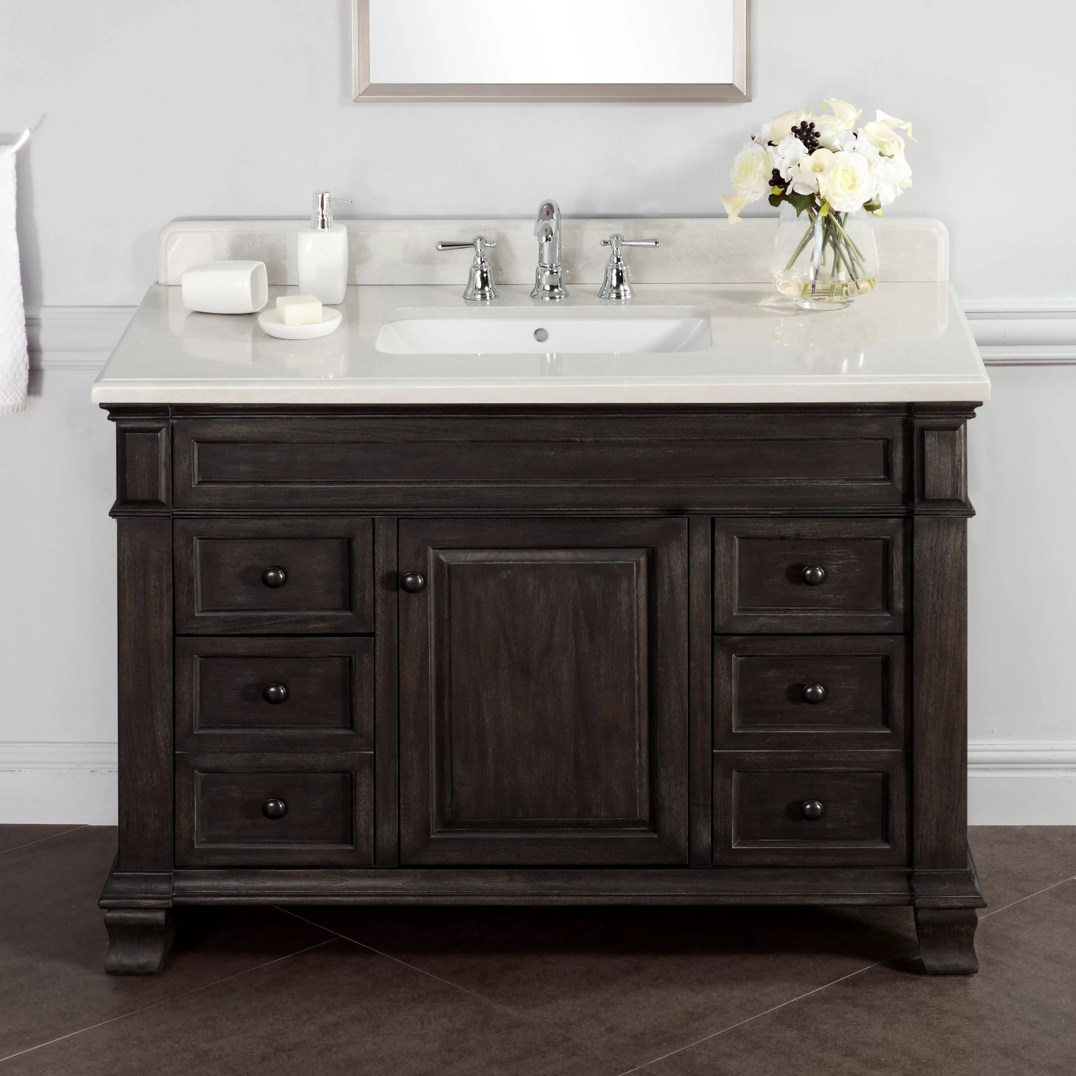 Lanza Kingsley 48 Single Bathroom Vanity Set  Reviews
