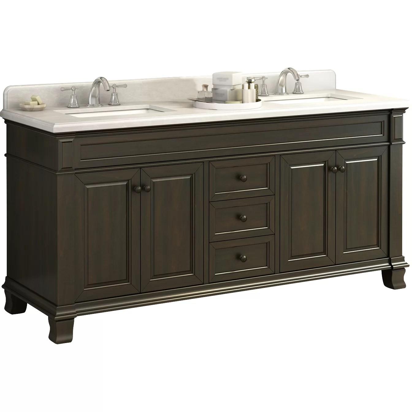 Lanza Kingsley 72 Double Bathroom Vanity Set  Reviews