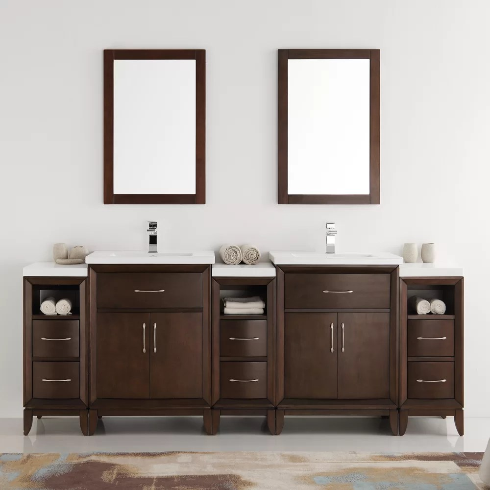 Fresca Cambridge 84 Double Traditional Bathroom Vanity