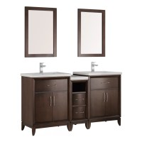 "Fresca Cambridge 58"" Double Bathroom Vanity Set with"