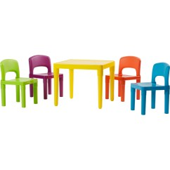 Tot Tutors Table And Chairs Modern Wooden Kids 5 Piece Plastic Chair Set