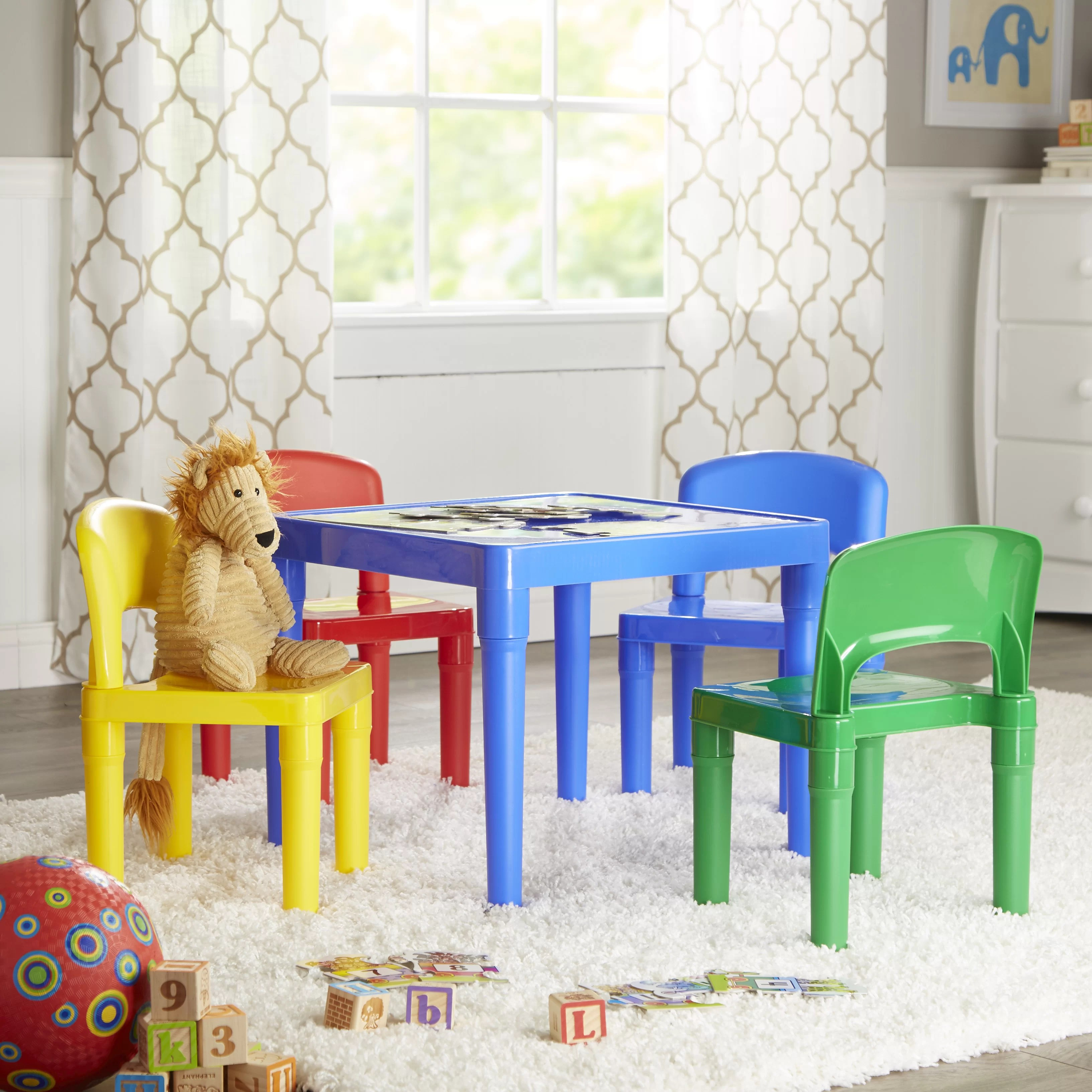 tot tutors table and chairs mid century folding chair kids 5 piece square