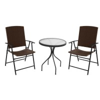 AZ Patio Heaters Patio Wicker 3 Piece Bistro Set & Reviews ...