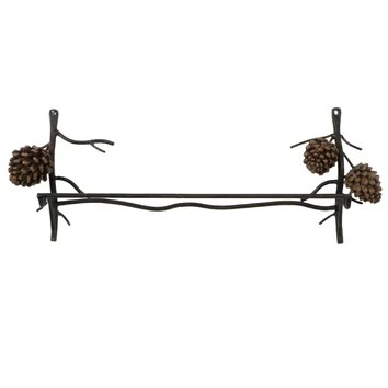 DEI Woodland River Country Pinecone Wall Mounted Towel Bar