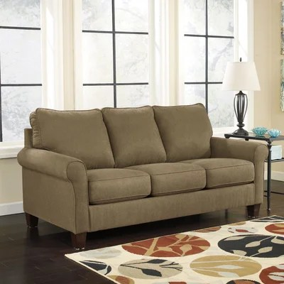 signature design by ashley harvest sleeper sofa contemporary pillows zeth full ...