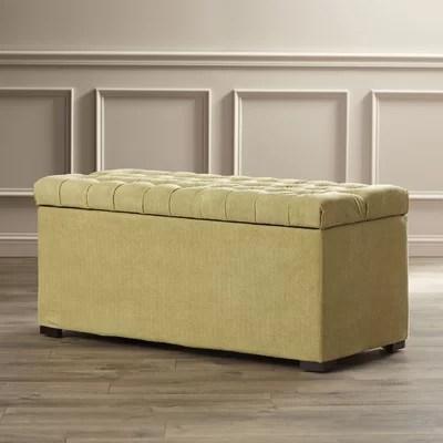 Red Barrel Studio Elk Valley Upholstered Storage Bedroom Bench  Reviews  Wayfair