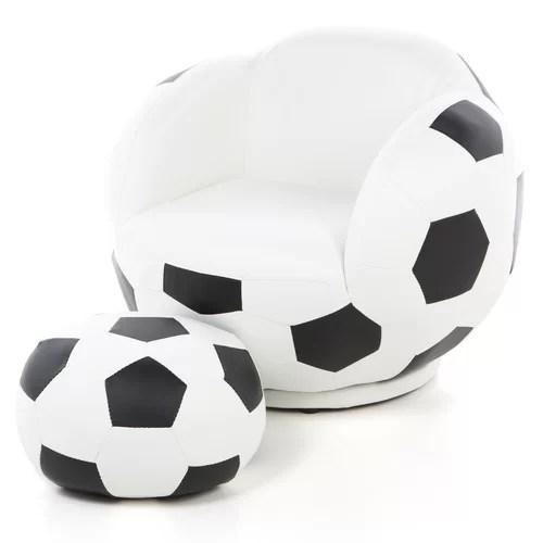 Wildon Home  Kids Soccer Ball Chair and Ottoman