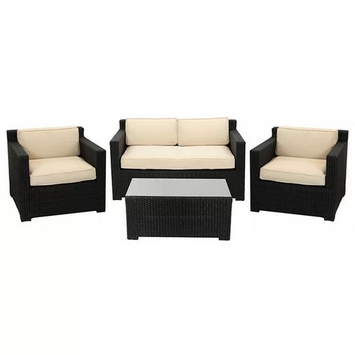 4 Piece Outdoor Patio Furniture Set with Cushions