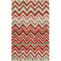 Chevron Red/Brown Area Rug   Wayfair