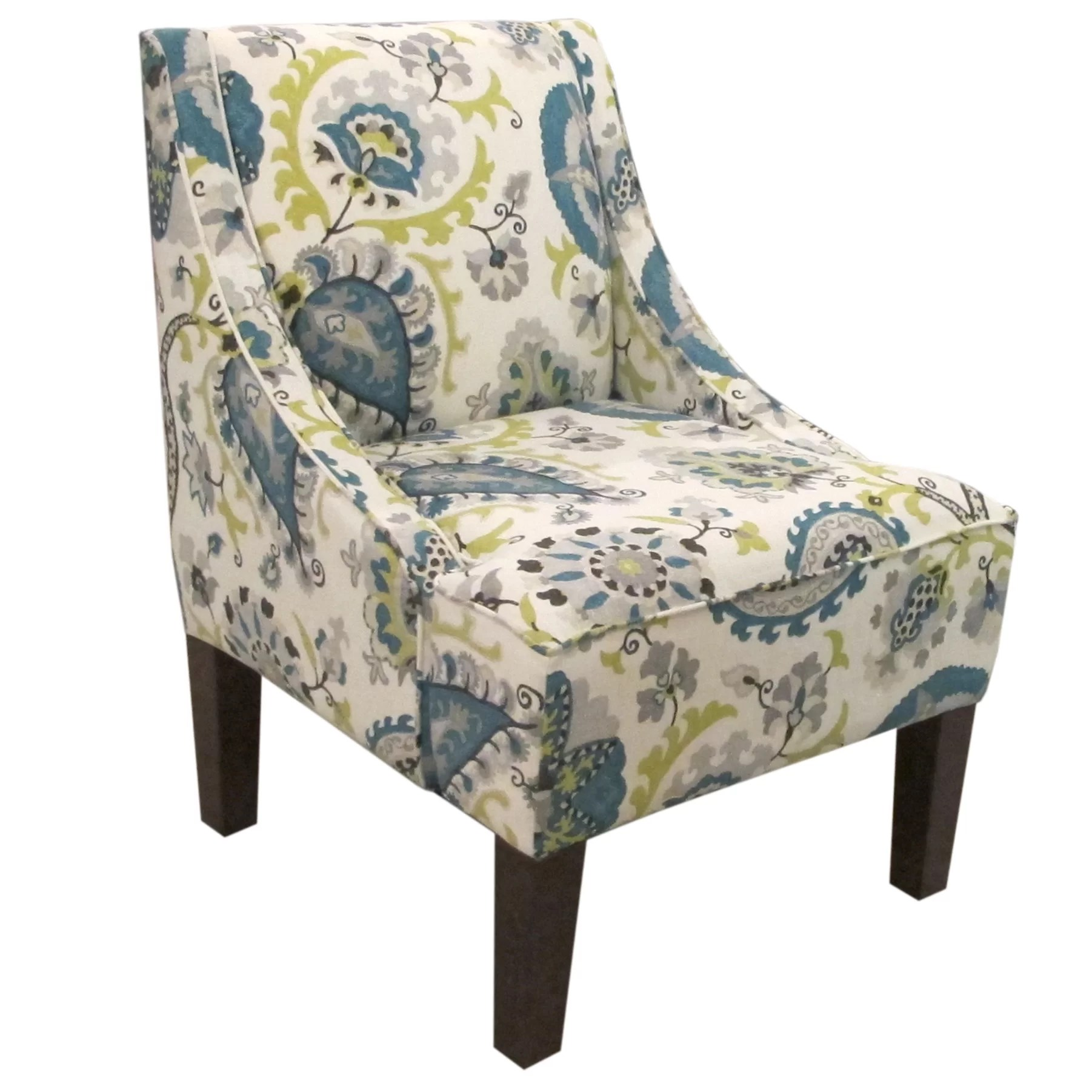 Upholstered Accent Chairs With Arms Bungalow Rose Heady Swoop Ladbroke Upholstered Arm Chair