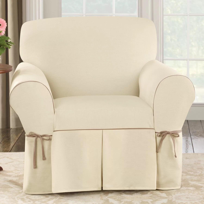 Sure Fit Cotton Duck Club Chair Slipcover  Reviews  Wayfair