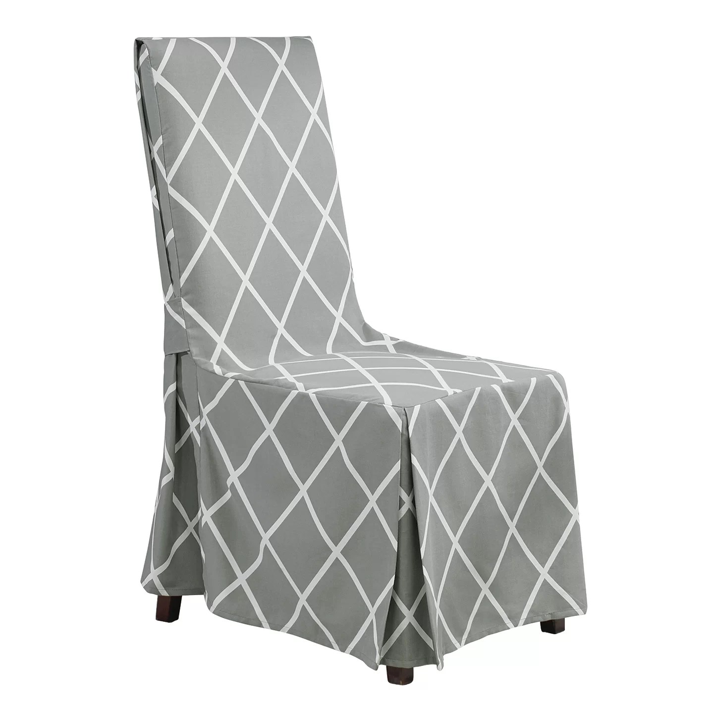 sure fit parsons chair slipcovers revolving manufacturers in chennai lattice parson skirted slipcover and reviews