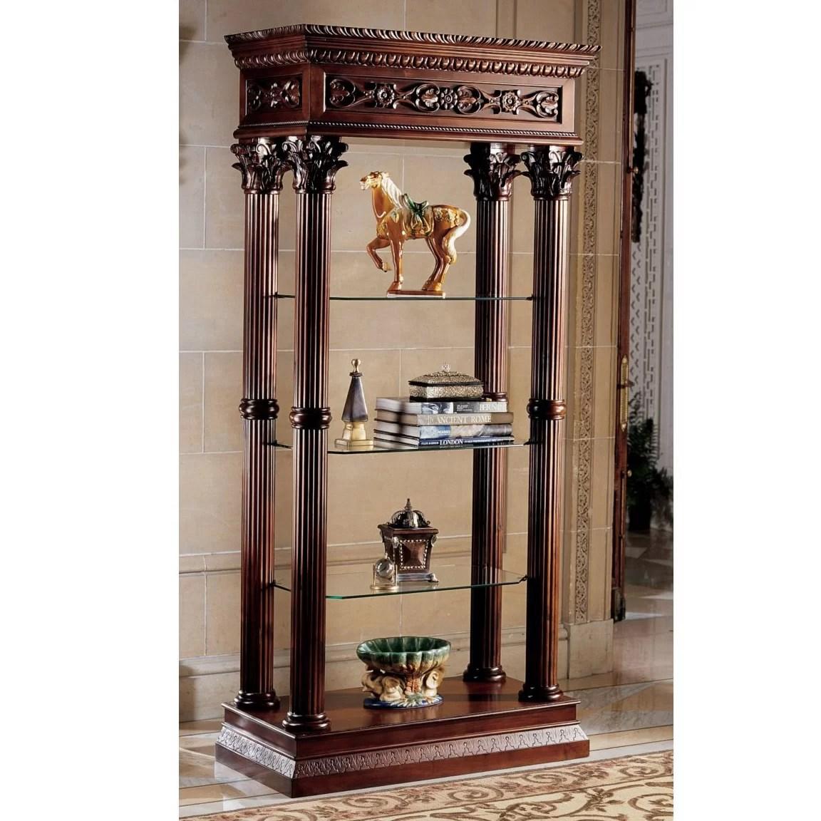 Design Toscano Broadgate Grand Curio Cabinet  Reviews  Wayfair
