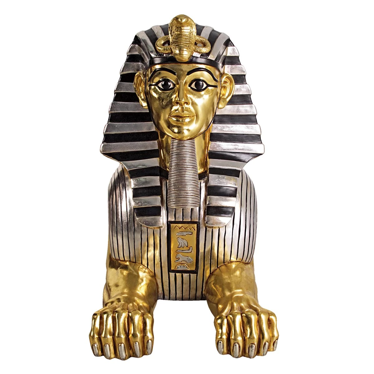christmas chair covers for sale how to measure slipcover grand gilded egyptian sphinx statue | wayfair