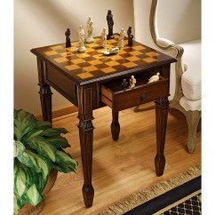 Chess Table And Chairs Spandex Chair Bands Design Toscano Walpole Manor Gaming Reviews