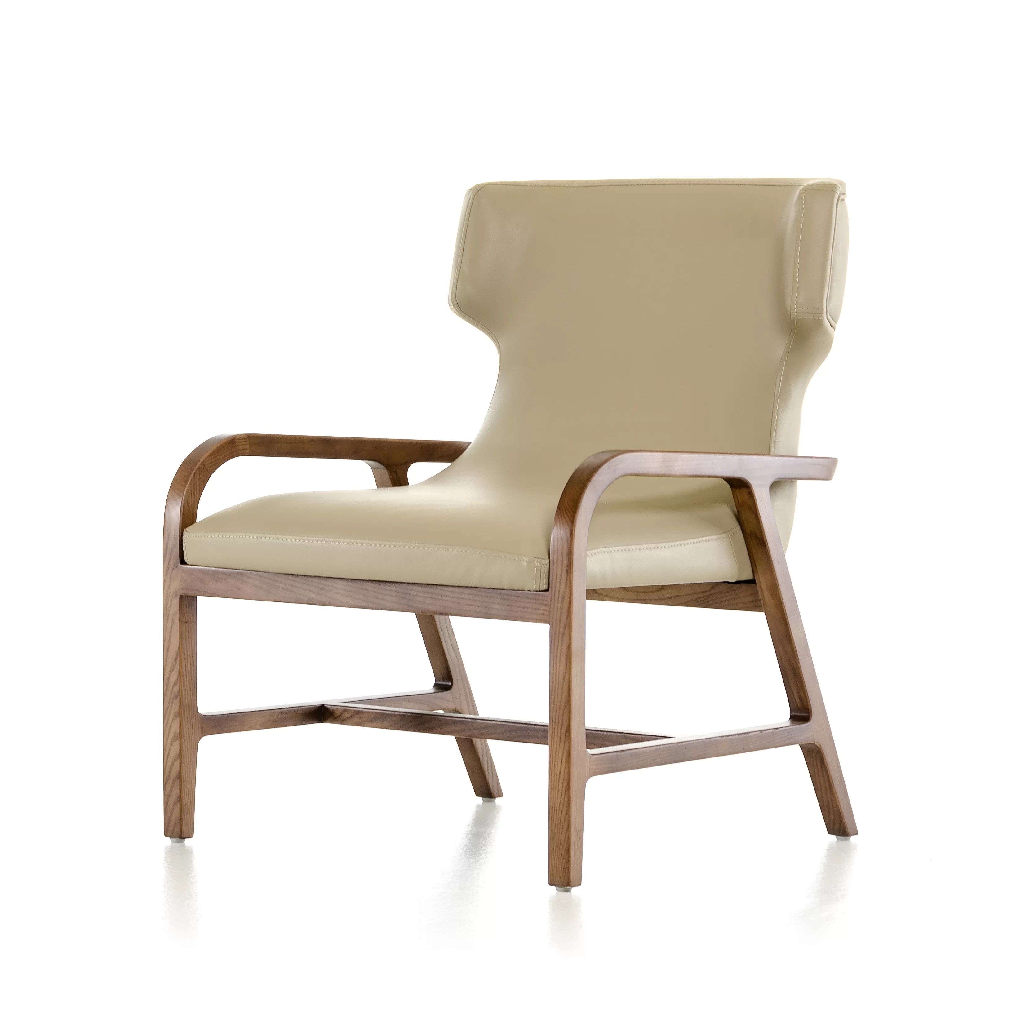 contemporary accent chairs with arms adirondack teak modrest olenna modern arm chair wayfair
