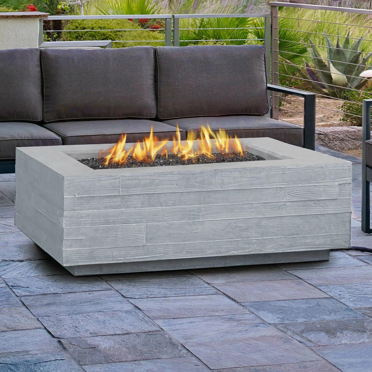 Board Form Propane Outdoor Fireplace  Wayfair