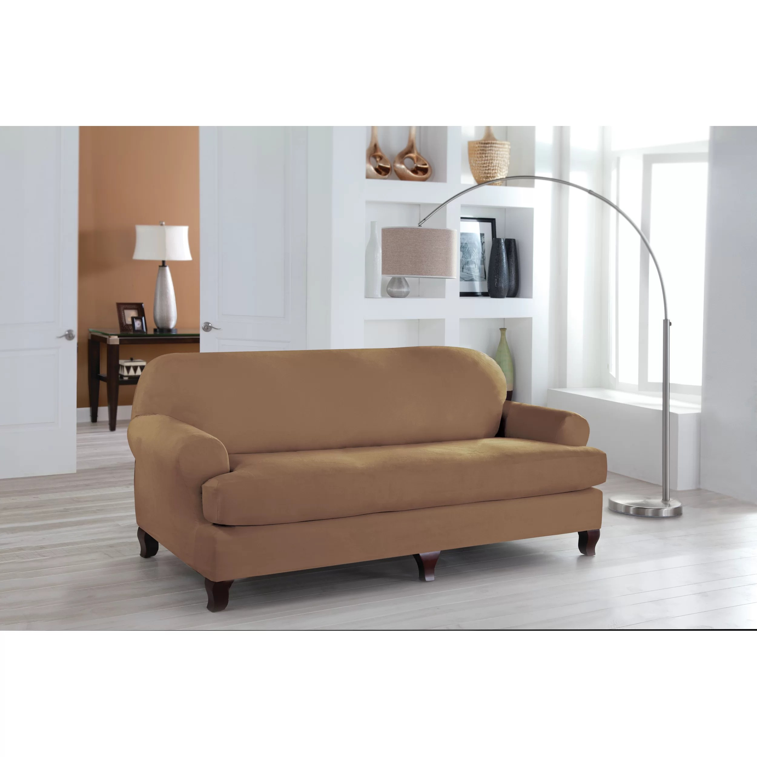 Perfect Fit Industries Tailor Fit Sofa T Cushion Slipcover  Reviews  Wayfair