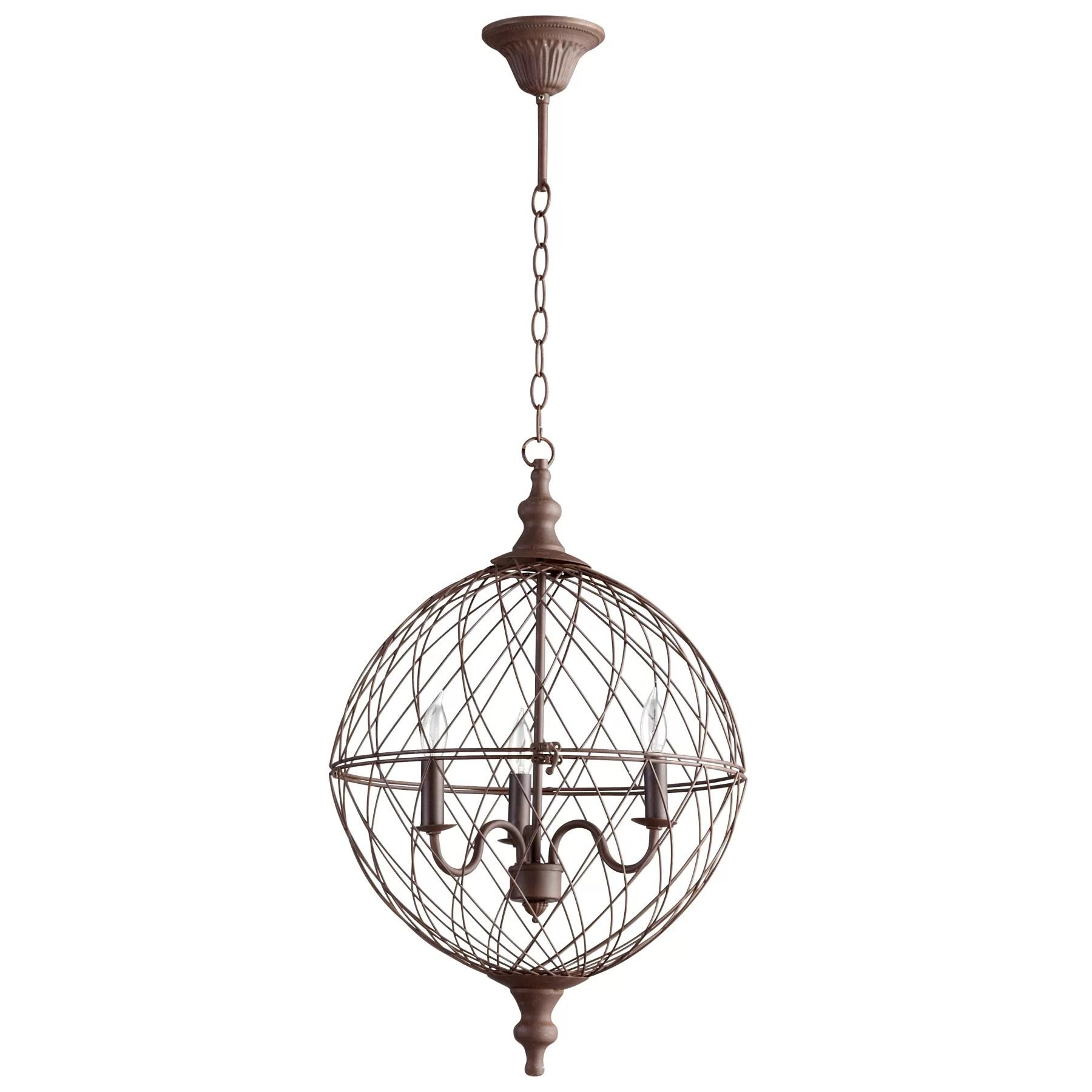 Castile 3 Light Globe Pendant