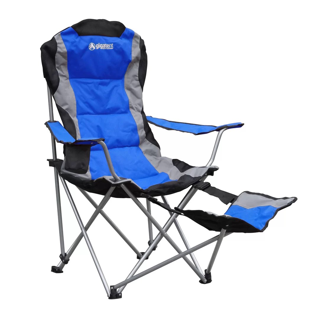 Camping Chair With Footrest Gigatent Folding Camping Chair With Footrest And Reviews
